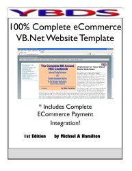 100% Complete Ecommerce VB.Net Website Template